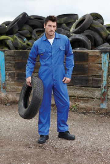 WD4819 Dickies Redhawk Economy Stud Front Coverall Boilersuit
